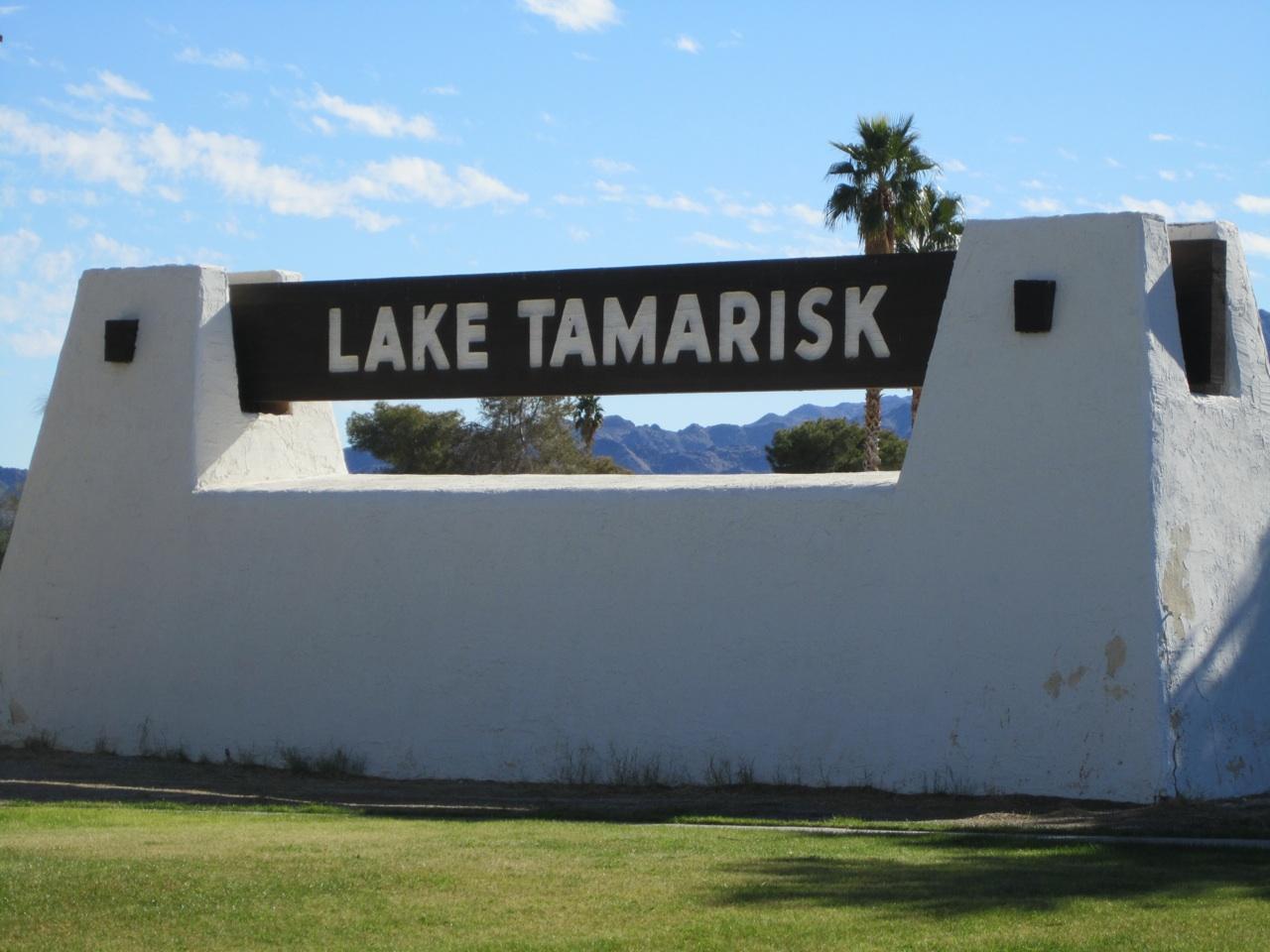 Lake Tamarisk Resort Sign In Desert Center, CA