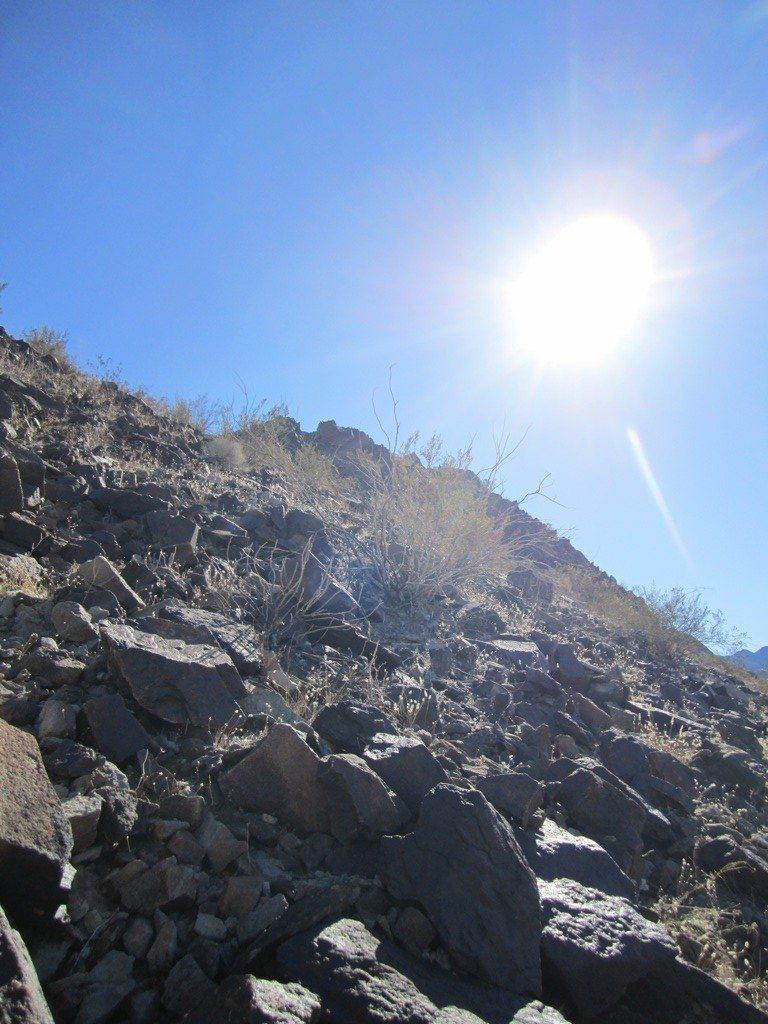 Geocaching On Alligator Mountain In Desert Center, CA