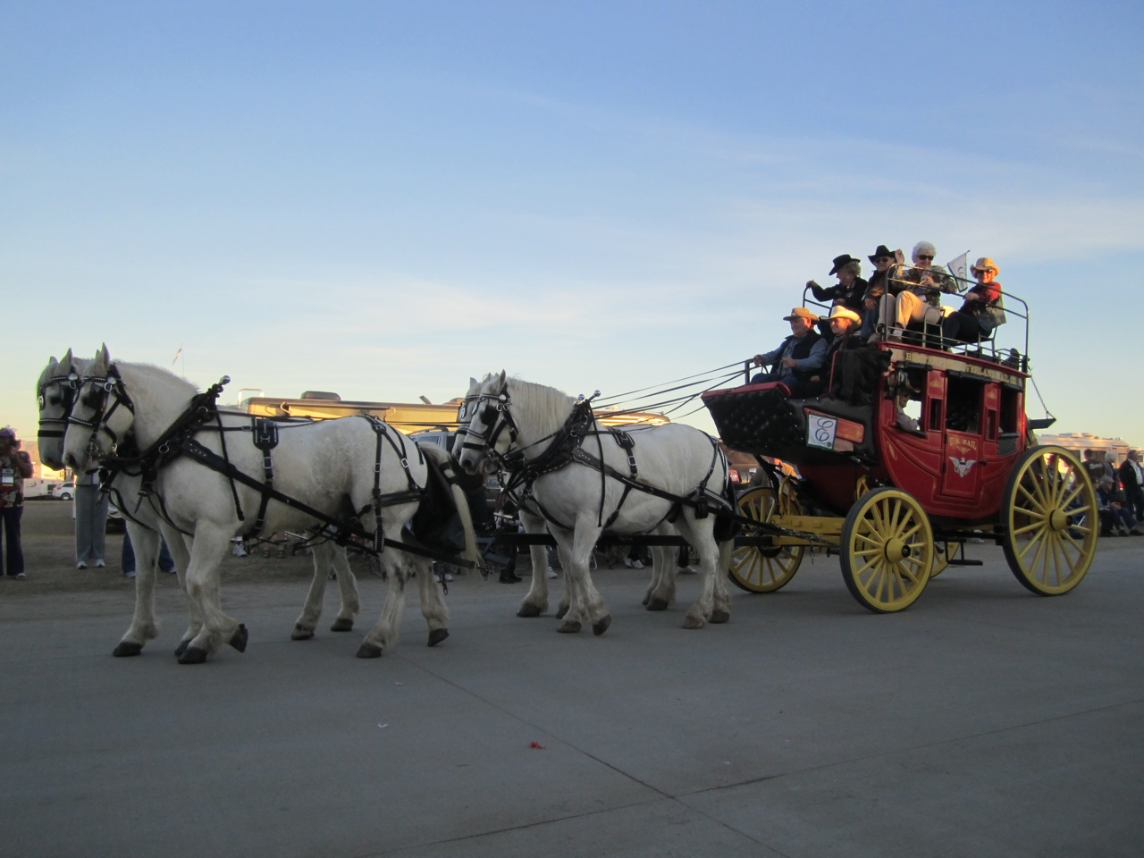 The Show Stopper. A Real Stage Coach And Horses.