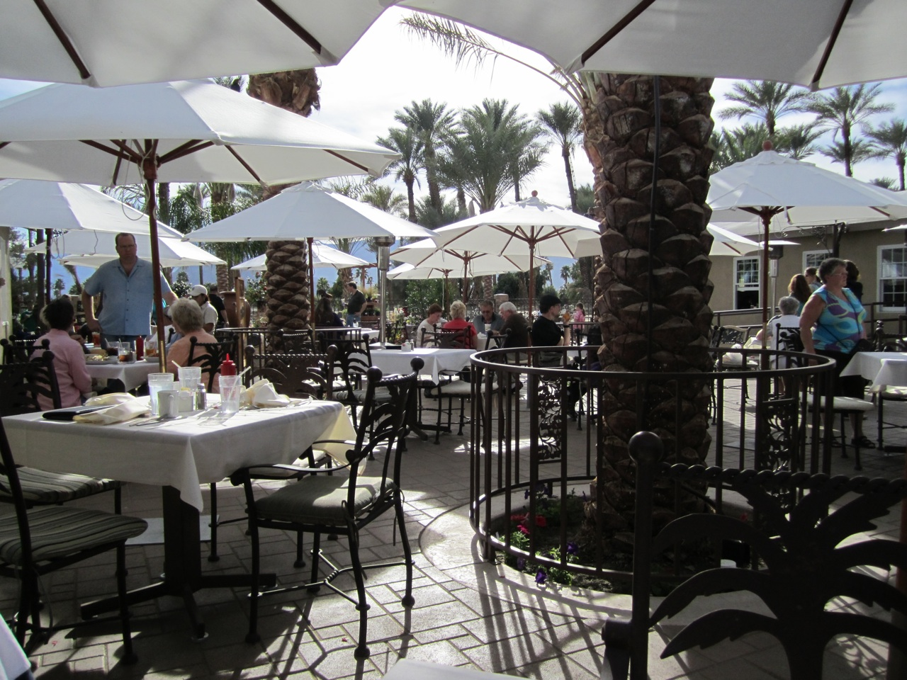 The Lunch Terrace At Shields Date Garden In Indio, CA