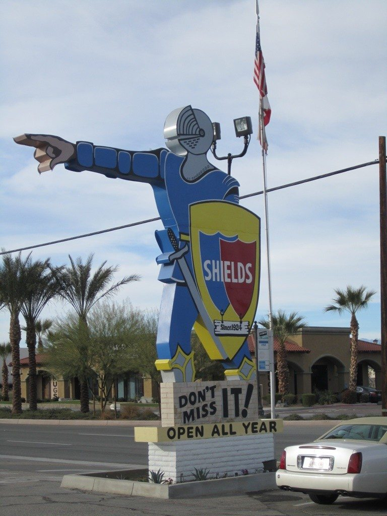 The Sign At Shields Date Farm In Indio, CA
