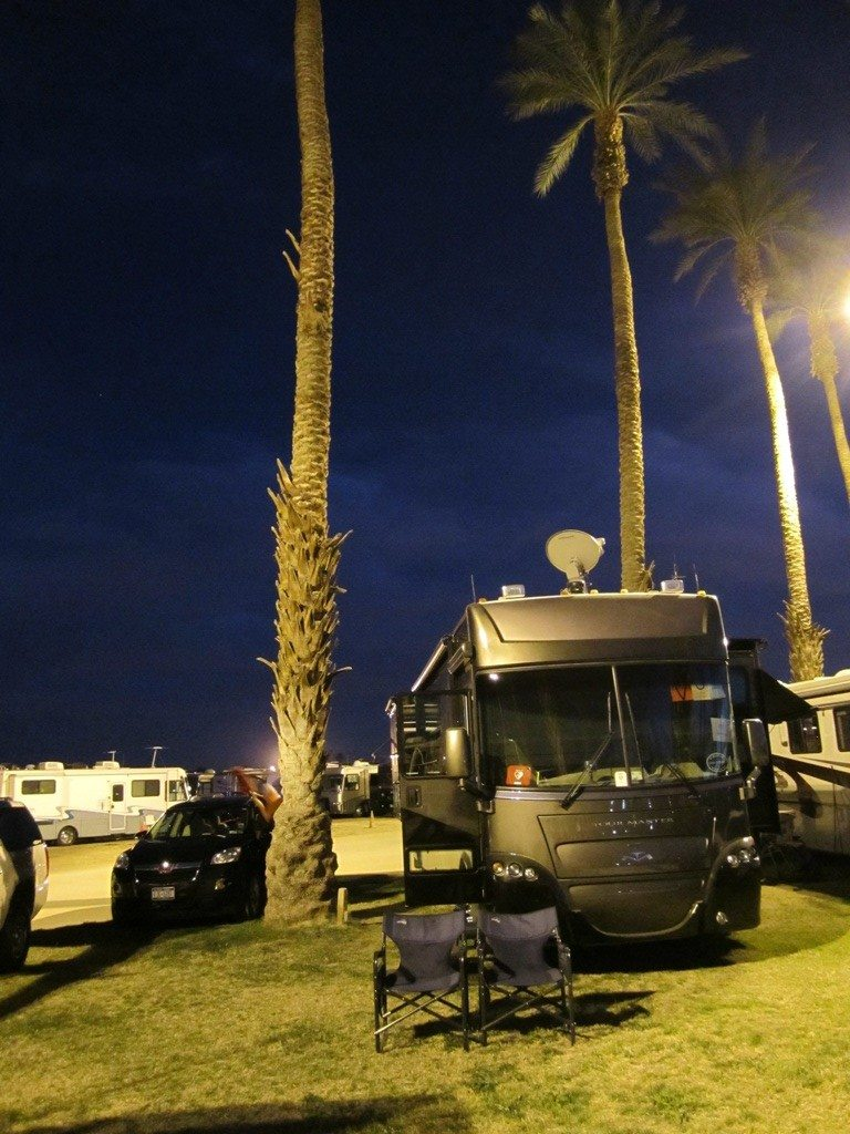 Our Rig Still At The Fairgrounds After The FMCA Western Area Indio Rally.