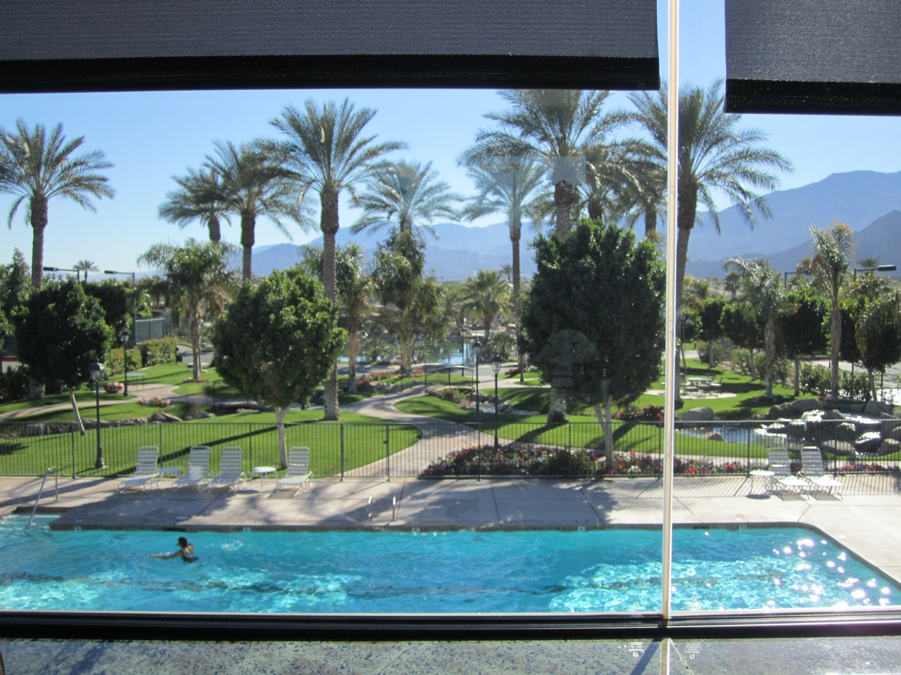 The View From Our Lunch Table At The Clubhouse