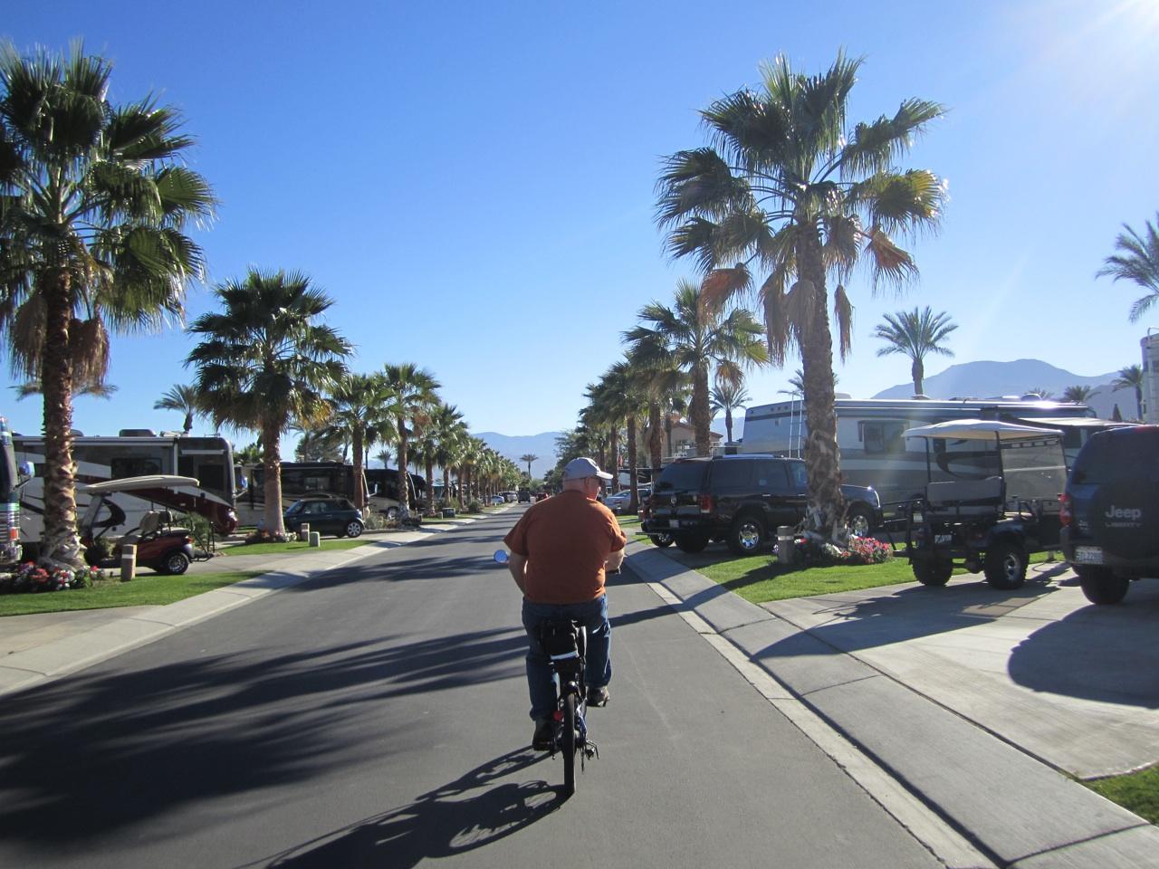 David Biking Around The Resort