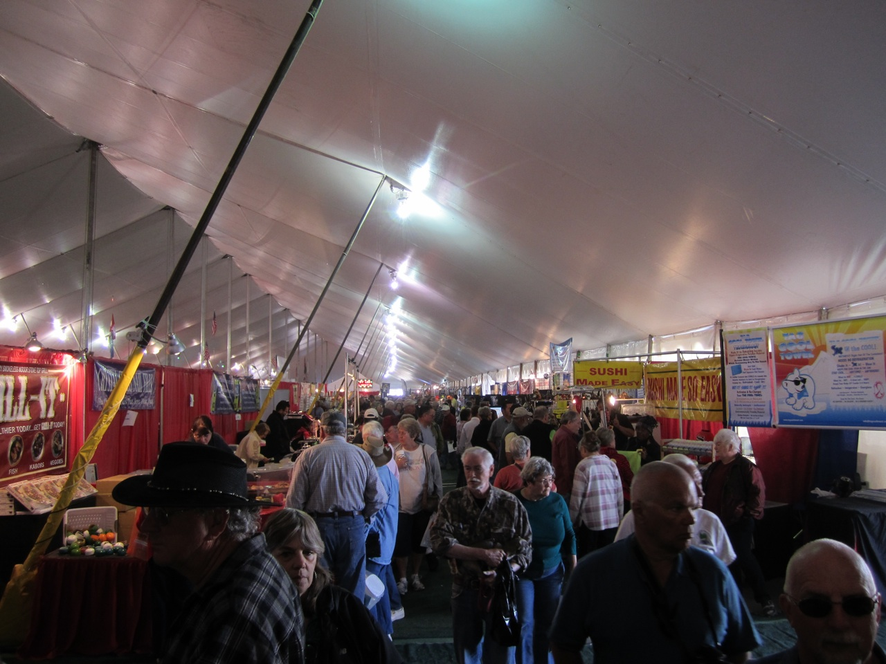 Inside The Main RV Tent At Quartzsite, AZ