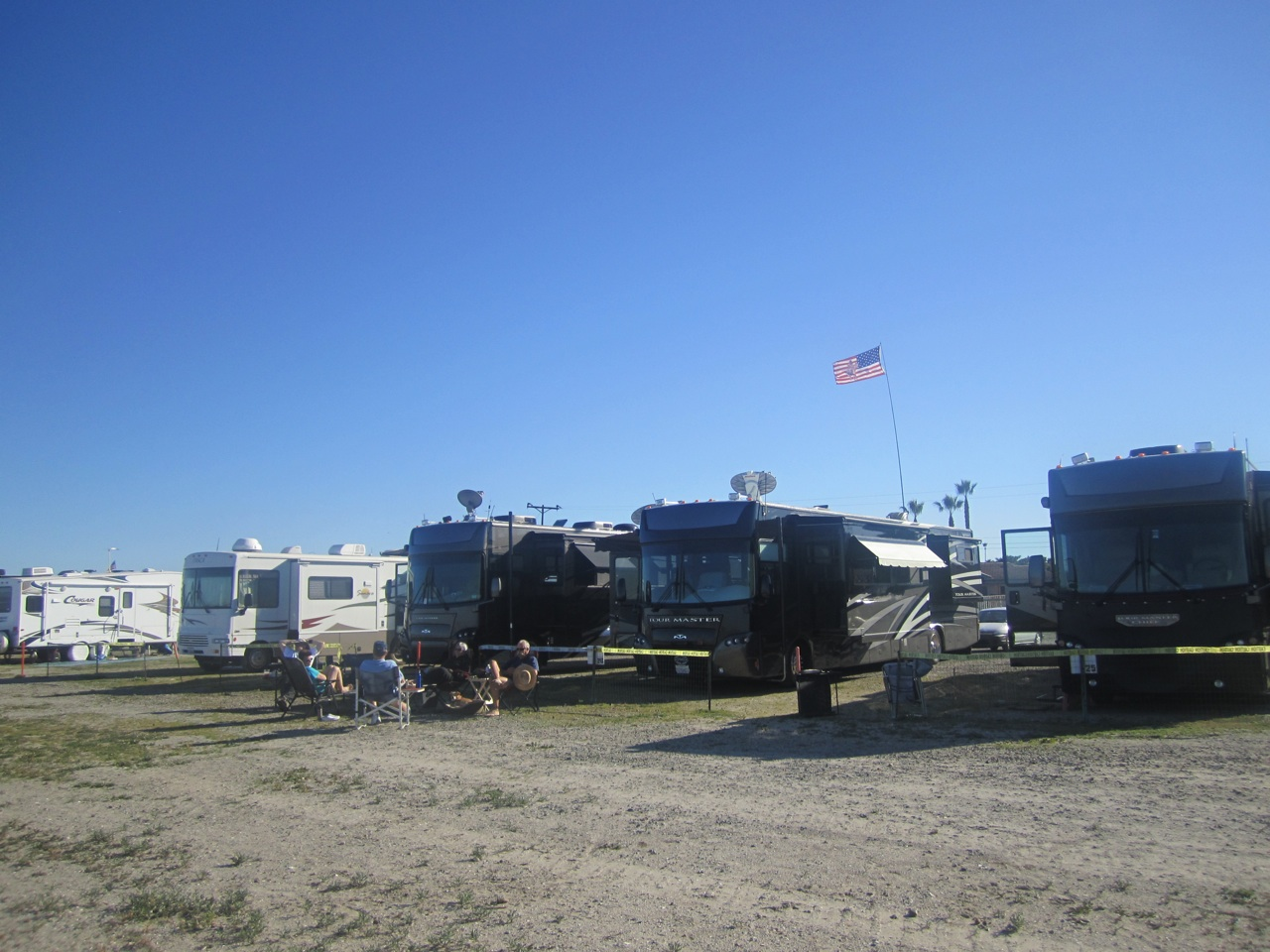 Our Three Rigs Right ON The Beach On The Navy Base In Coronado, CA