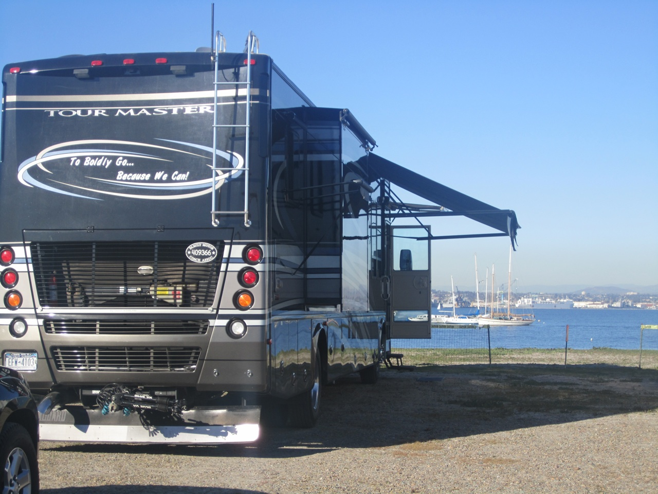 Our Rig Right On The Beach In Coronado, CA