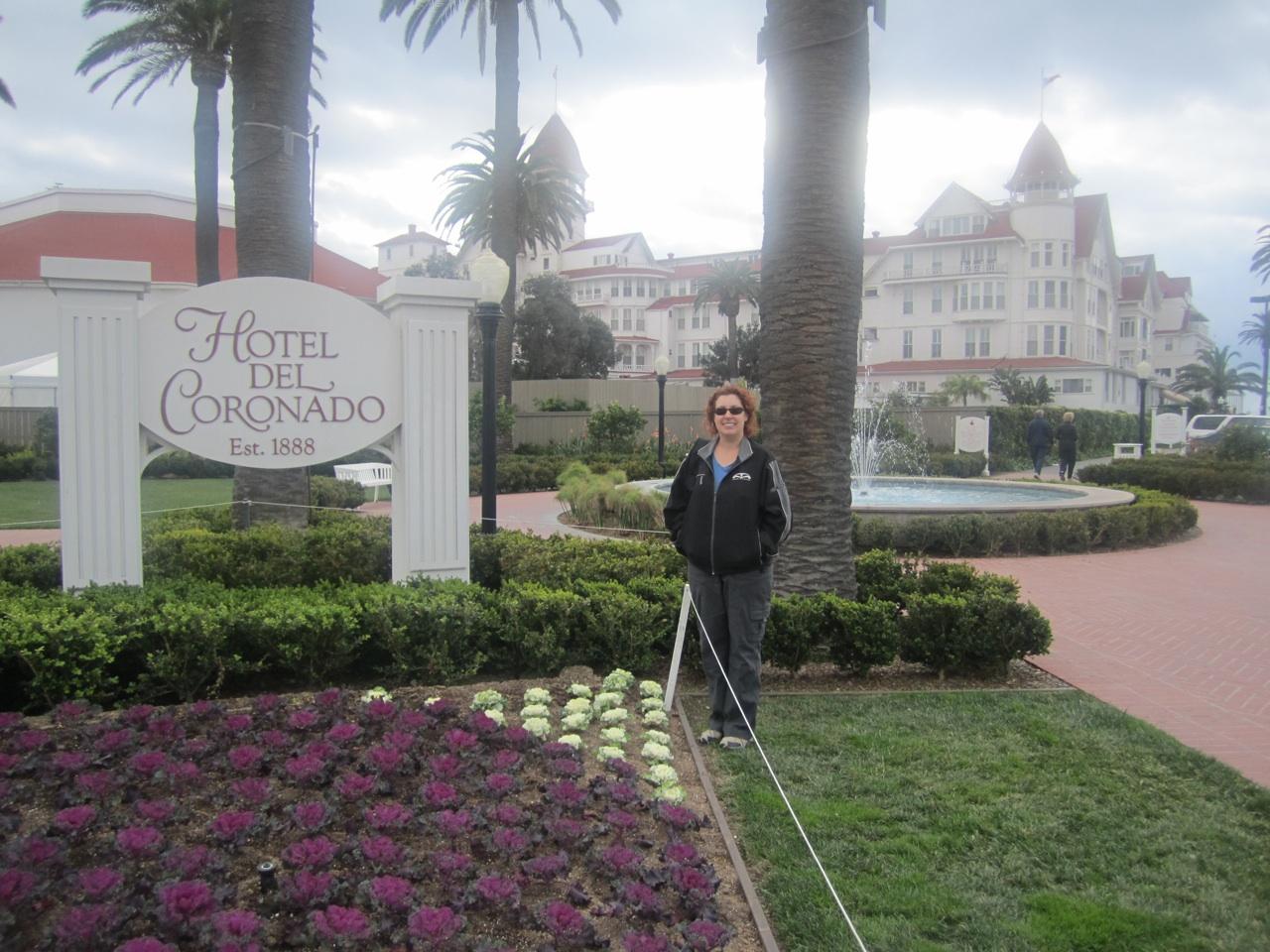 Brenda Standing In Front Of The Hotel del Coronado