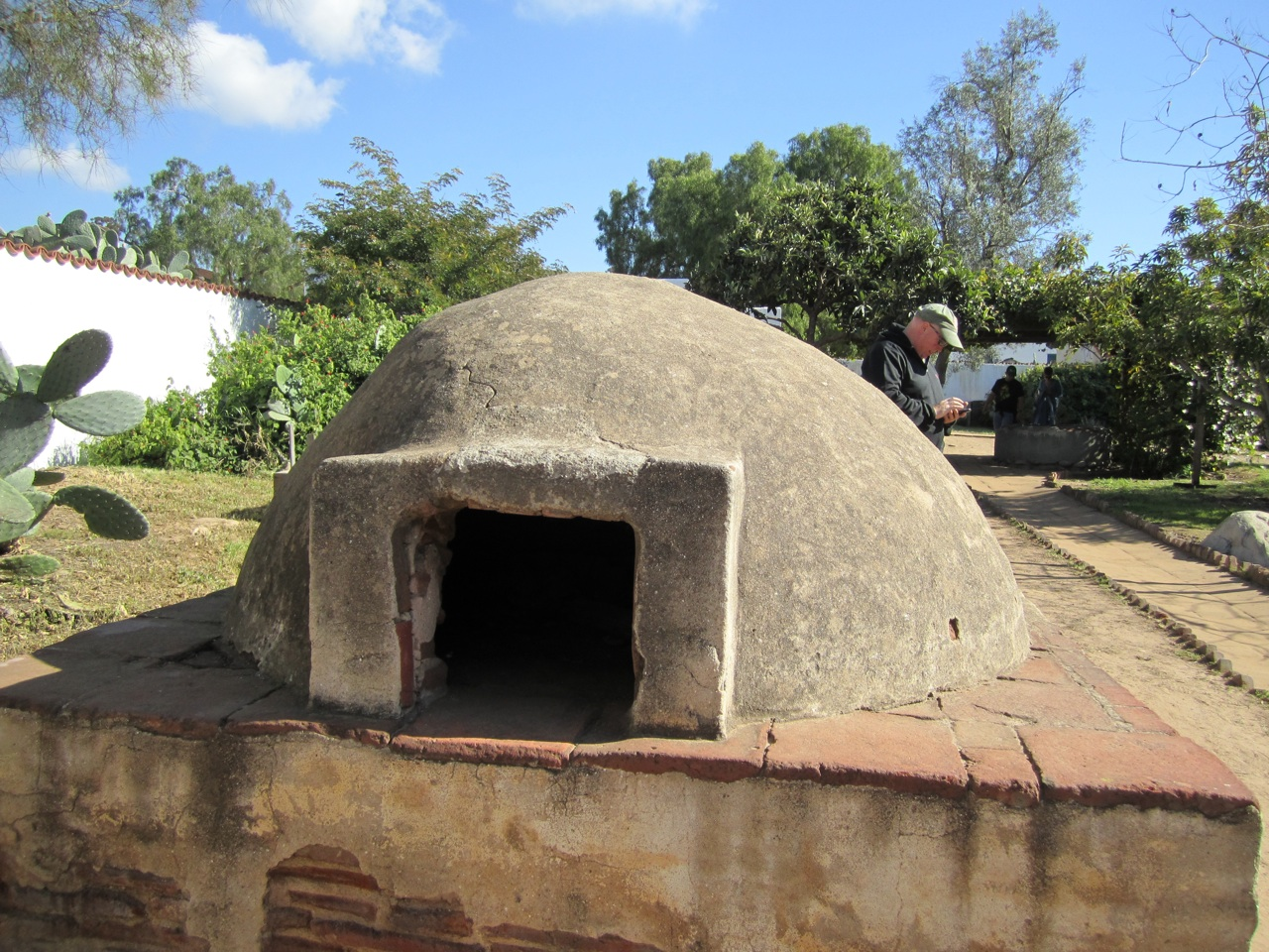 A Reconstruction Of The Outdoor Oven.