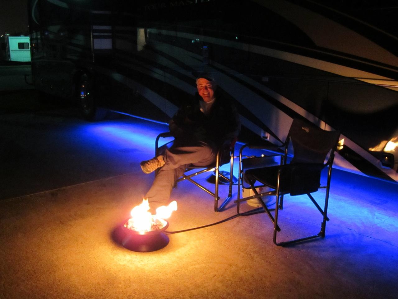 David Enjoying The Campfire