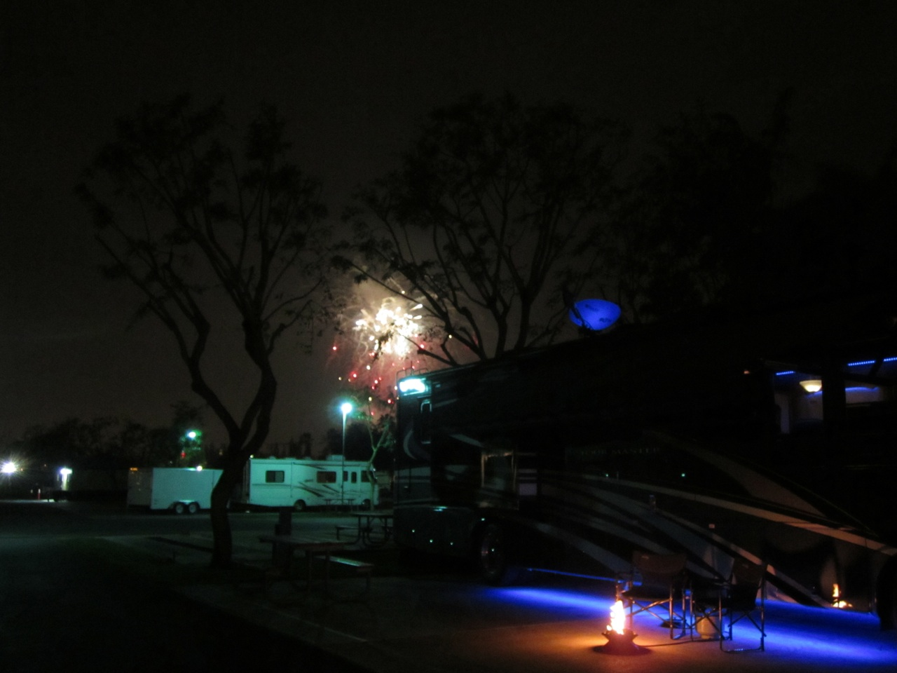 Not A Very Good Picture, But This Is The Fireworks View From Our Coach
