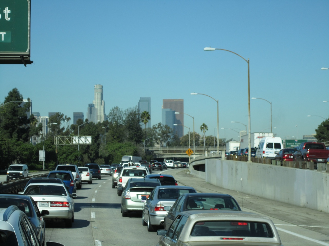 Traffic Going Into Downtown LA At 10:30AM