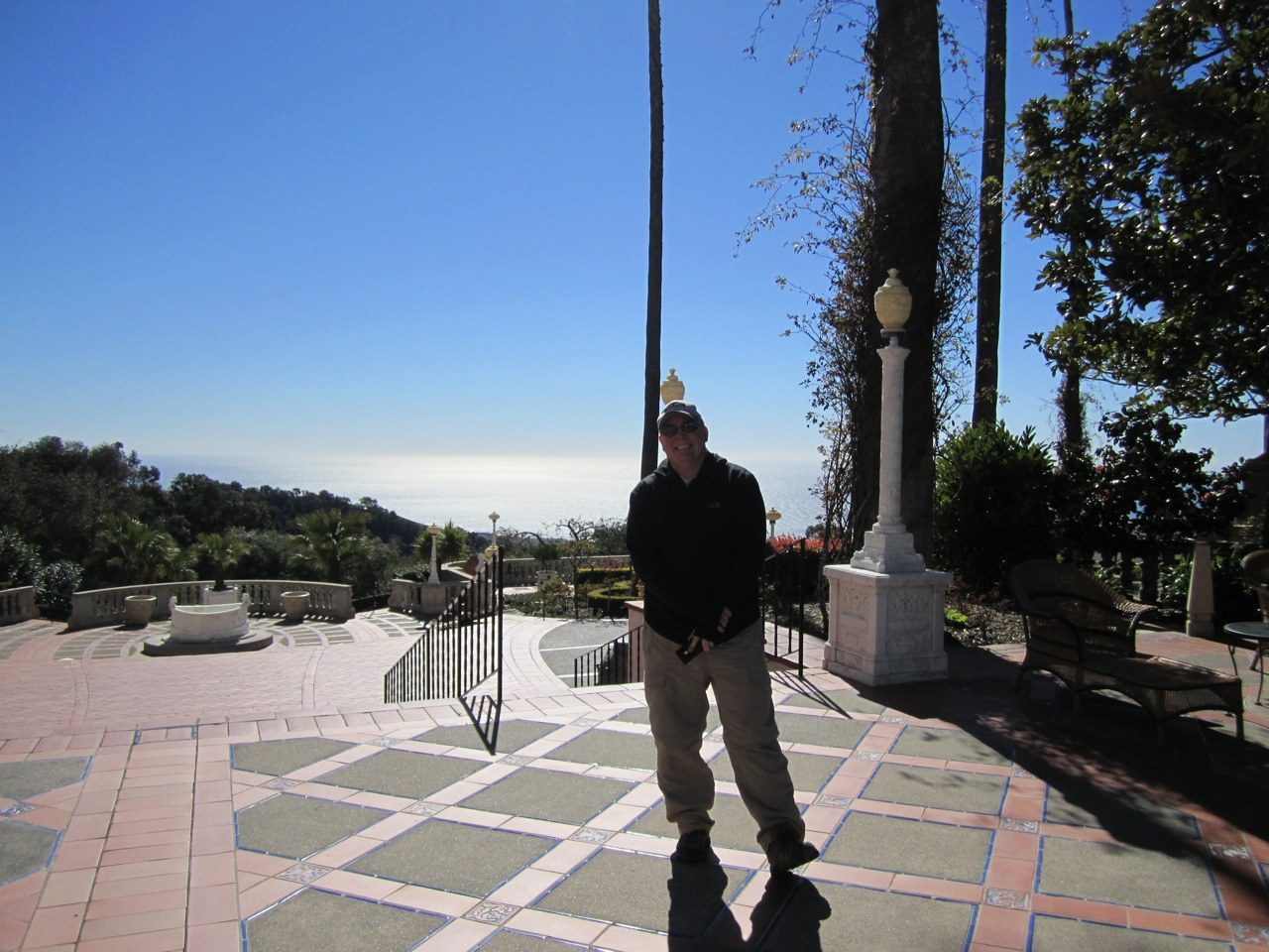 David On The Grounds At Hearst Castle