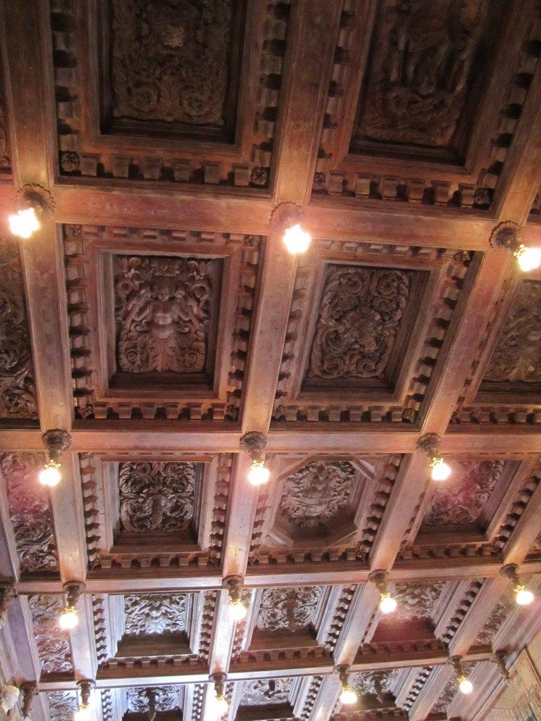 One Of The Wood Carved Ceilings