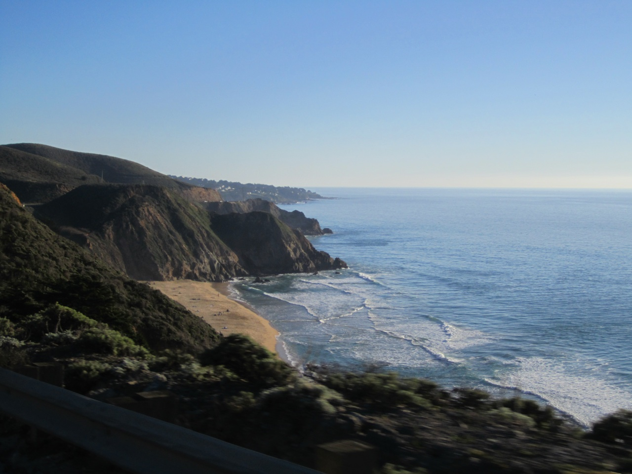 A Shot Outside Our Car Window On Highway 1, While David Is Traveling 40 MPH (Or Their Abouts)