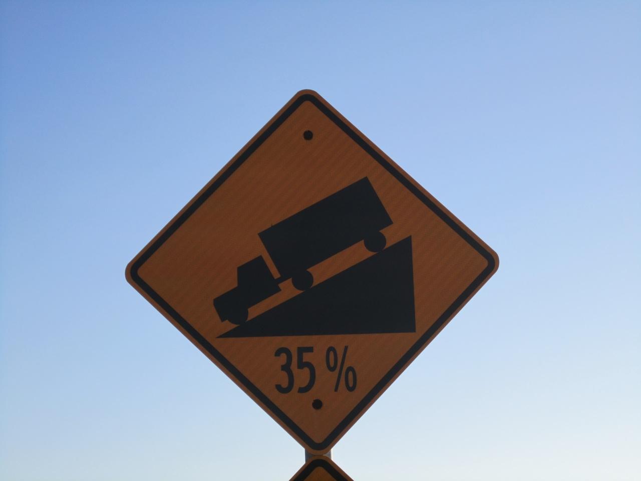 Street Sign We Saw Near Half Moon Bay, CA