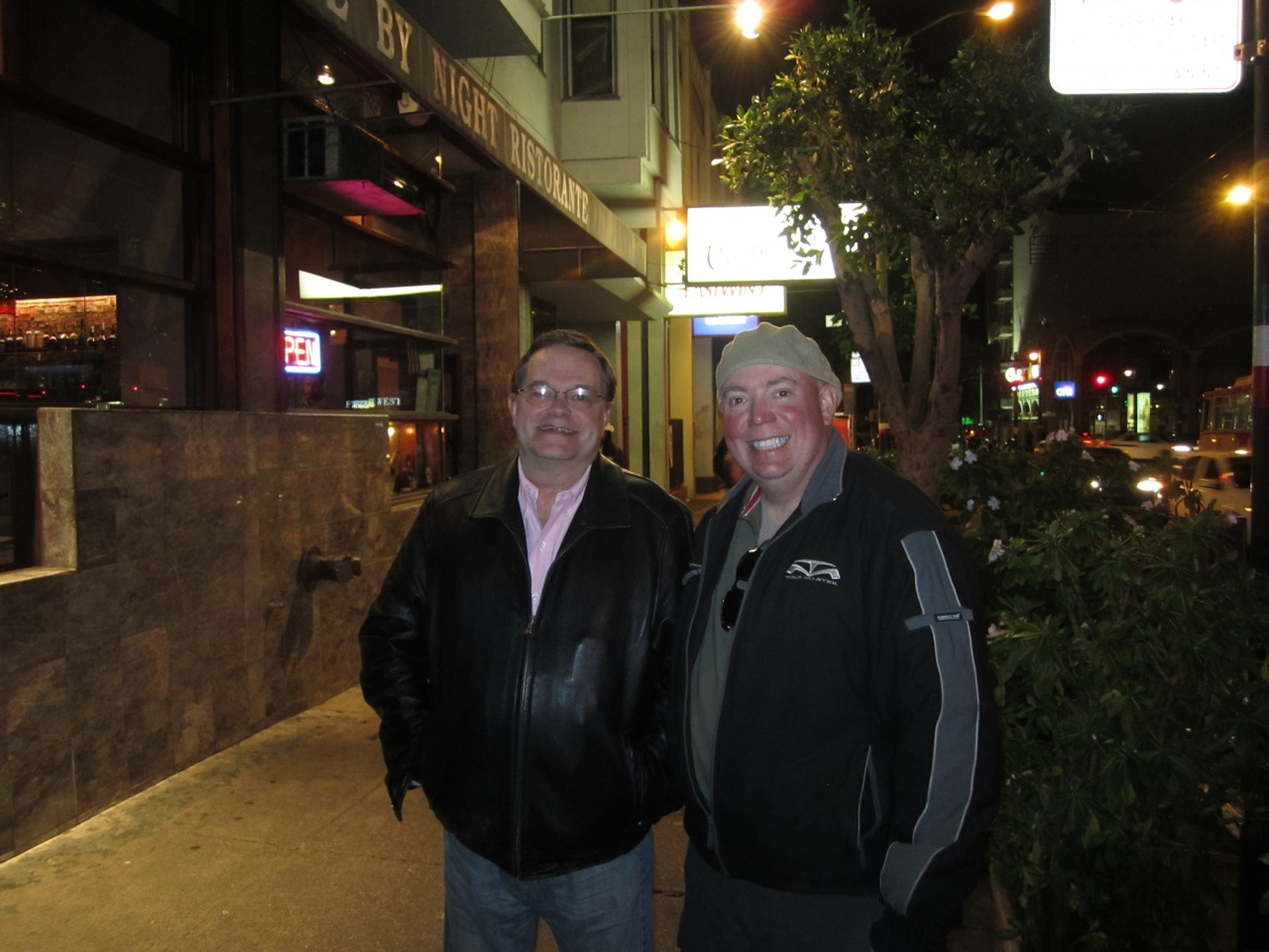 Ray And David Outside Firenze By Night Ristorante