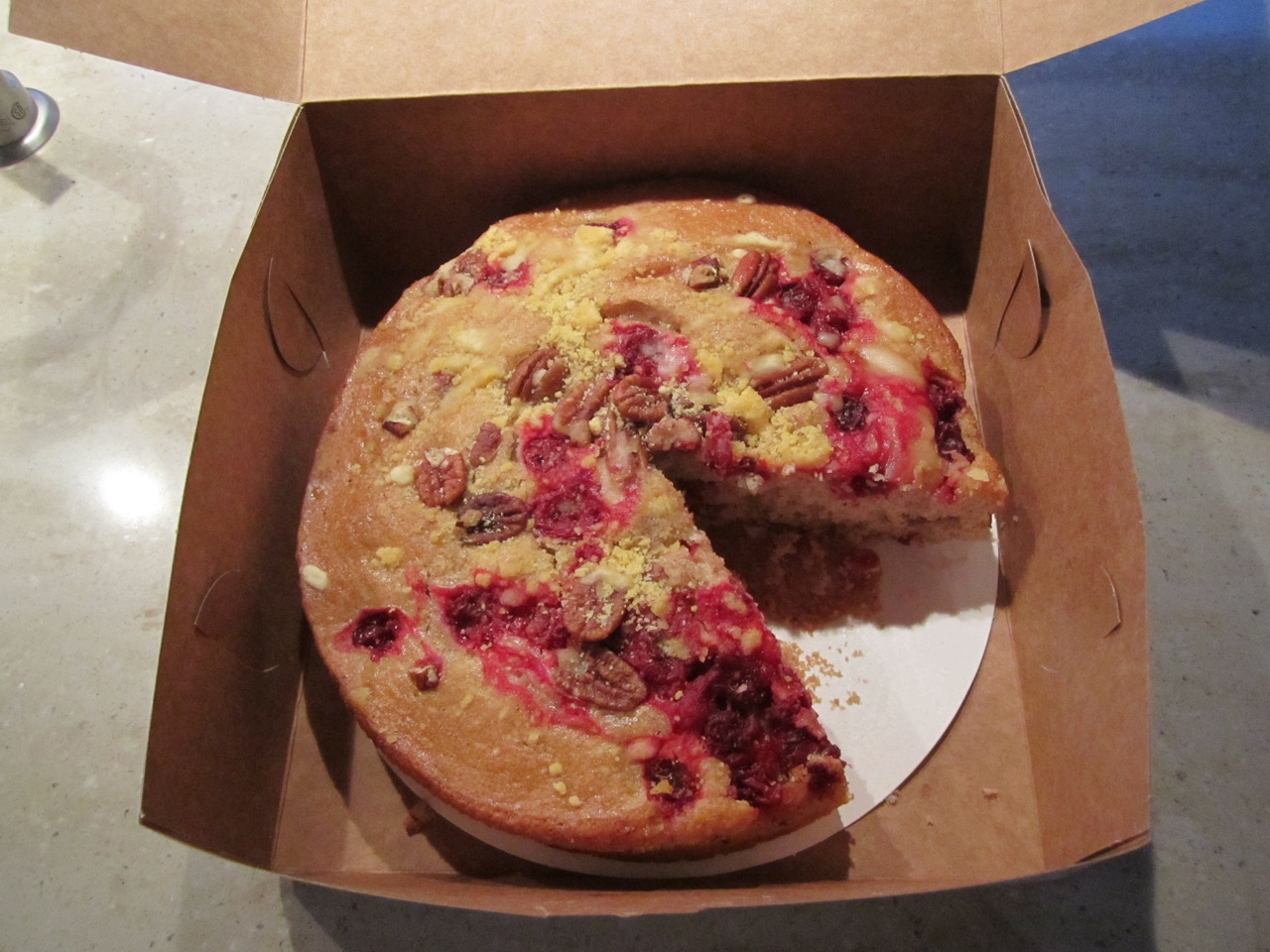 Cranberry Coffee Cake By Mazzetti's Bakery