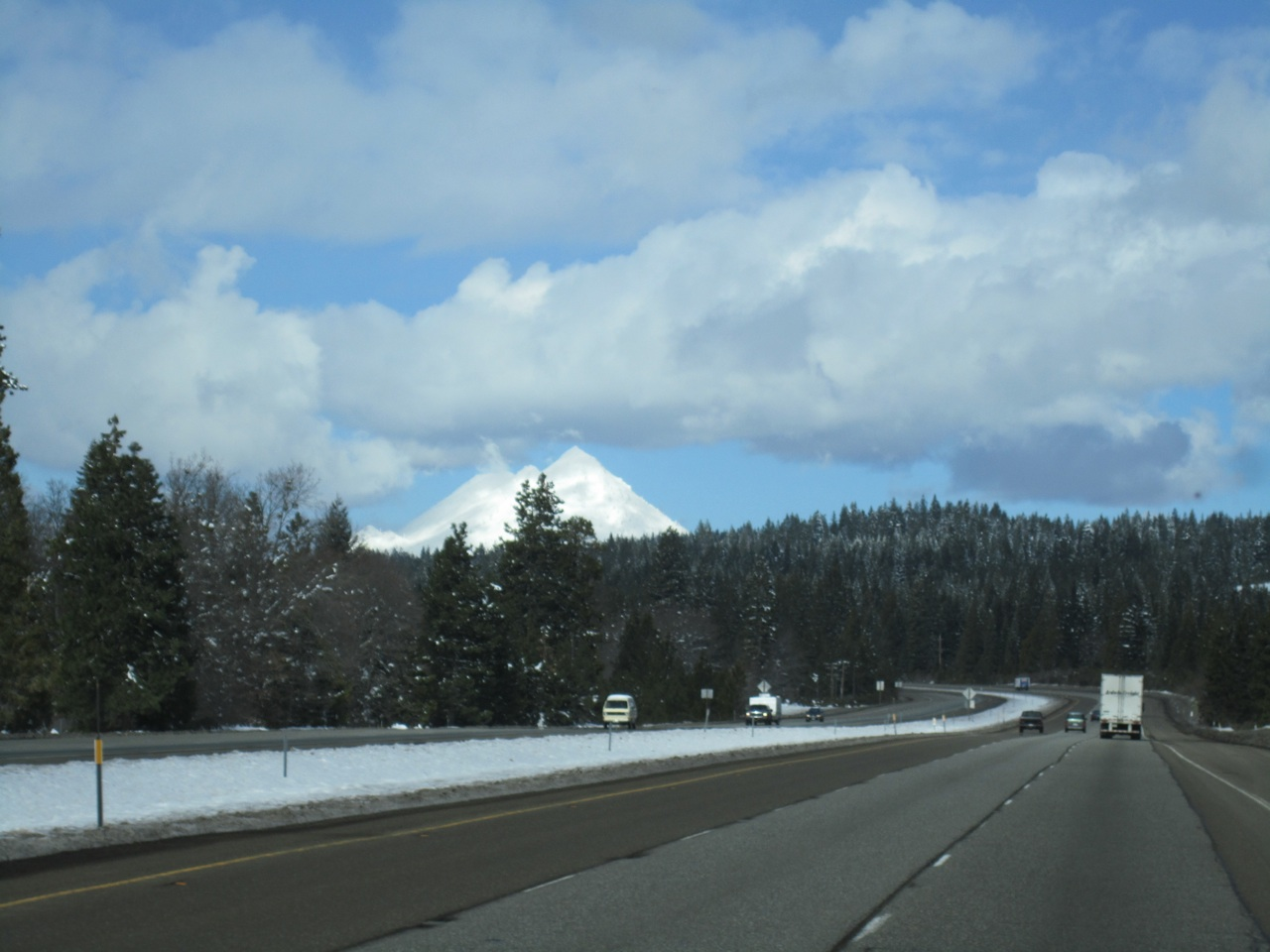 What We Thought Was Mt. Shasta.  It Actually Is Black Butte.