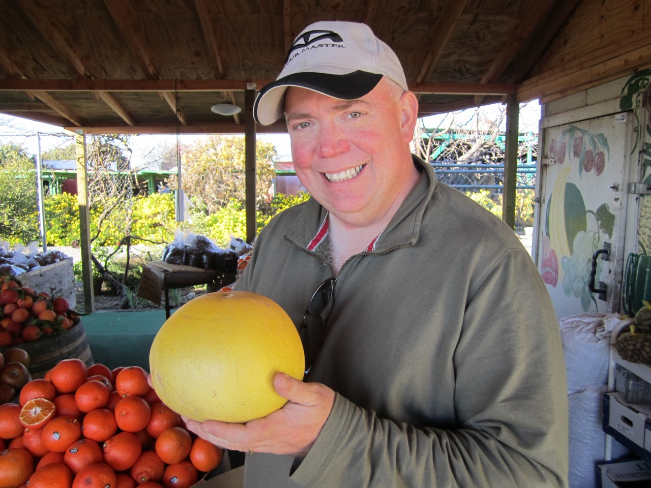 David And A Giant Pomelo Fruit