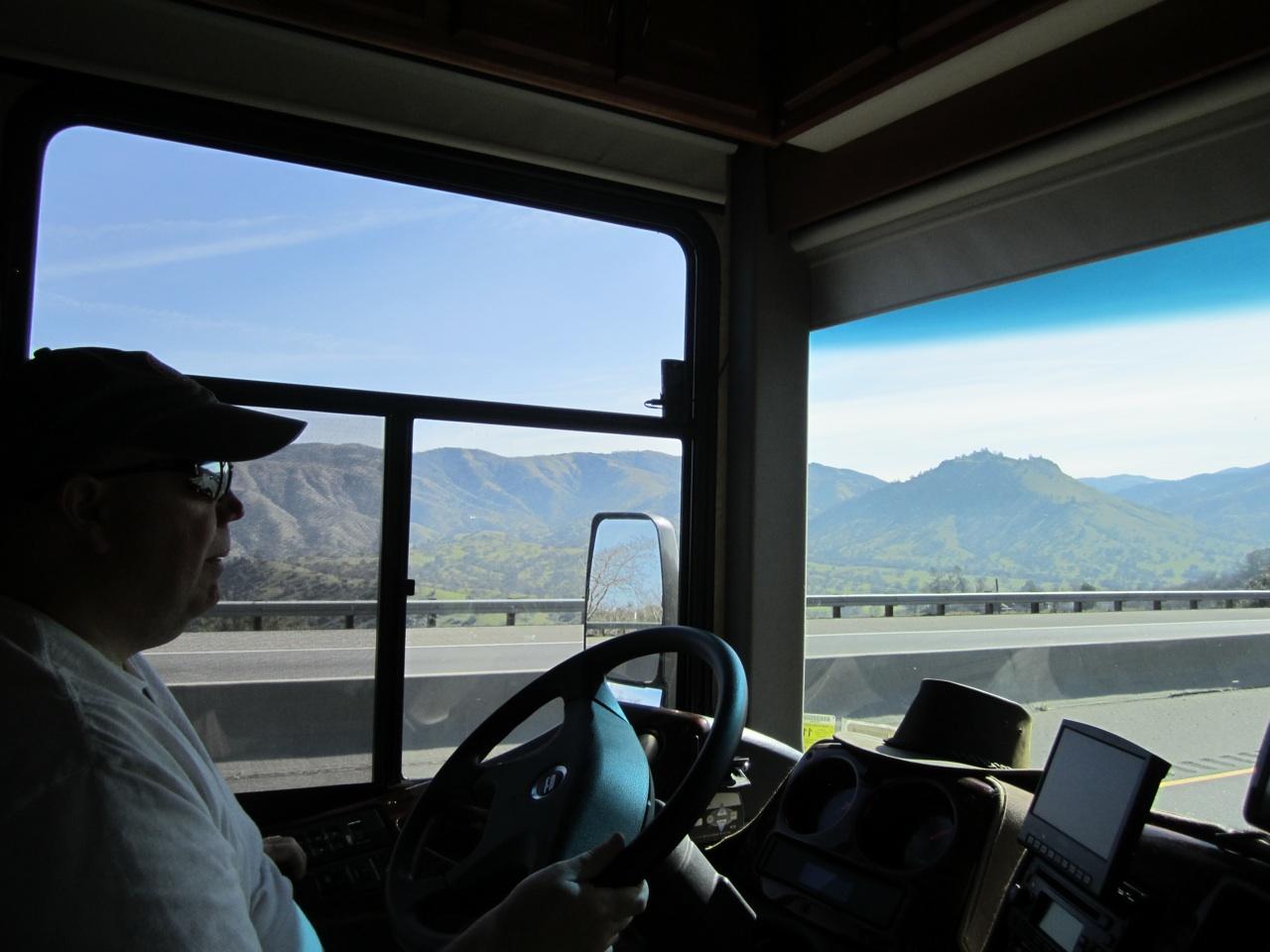 David Driving Through Beautiful Mountain Areas