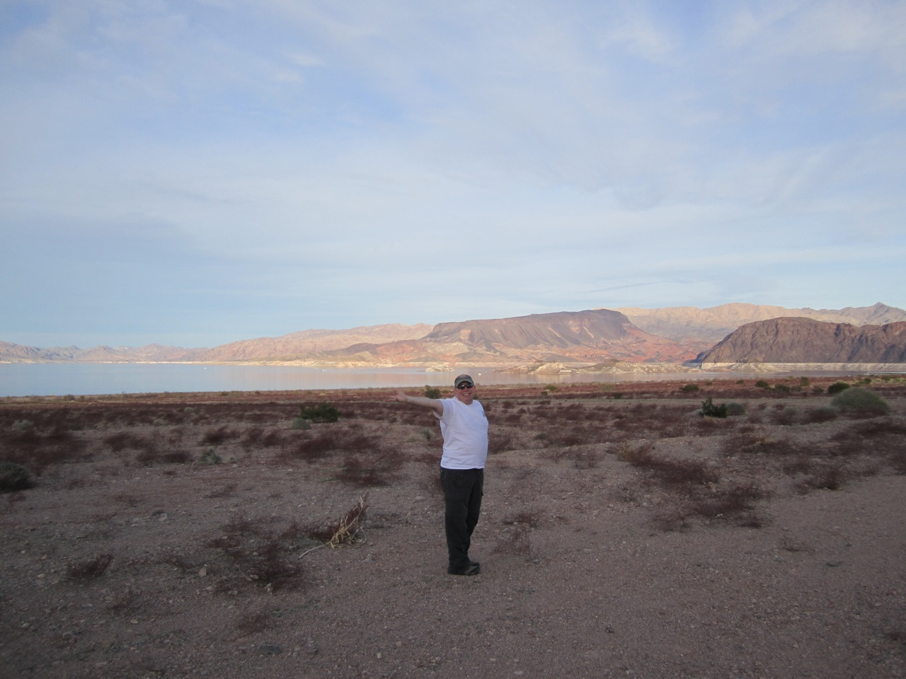 David And I Out Hiking Around Lake Mead