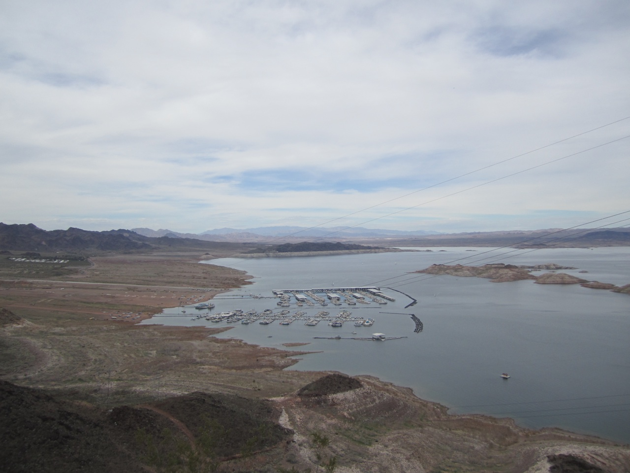 A View Of The Marina At Lake Mead.  The RV Park That We Stayed In Is Towards The Left Side Of The Photo.