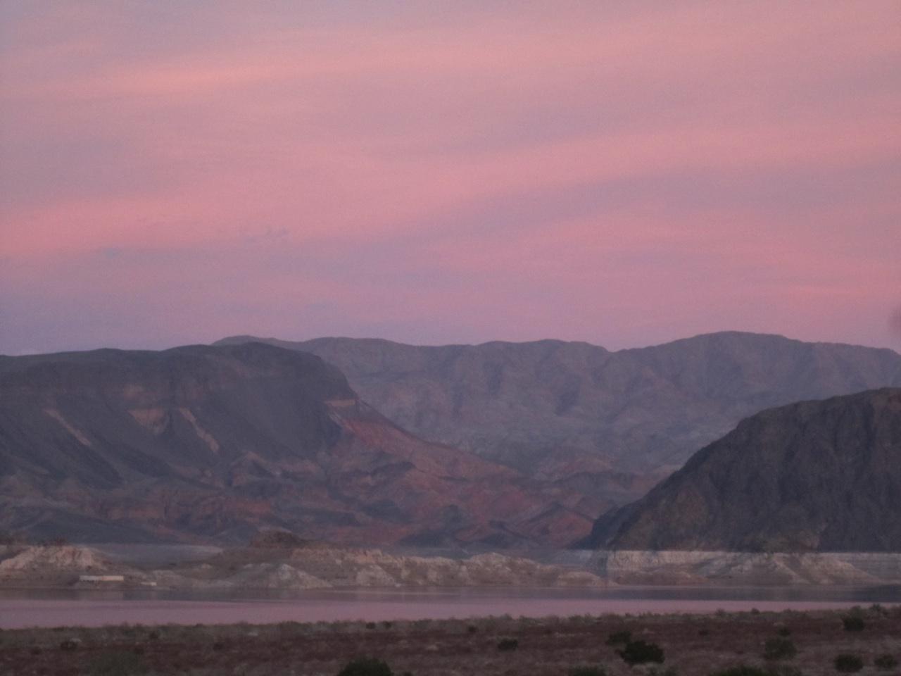 Lake Mead At Dusk