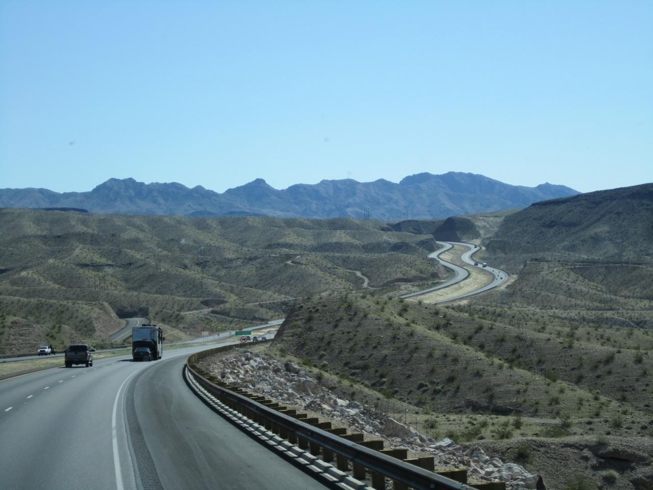 The Road Leaving The Lake Mead Area, Heading To Kingman, AZ