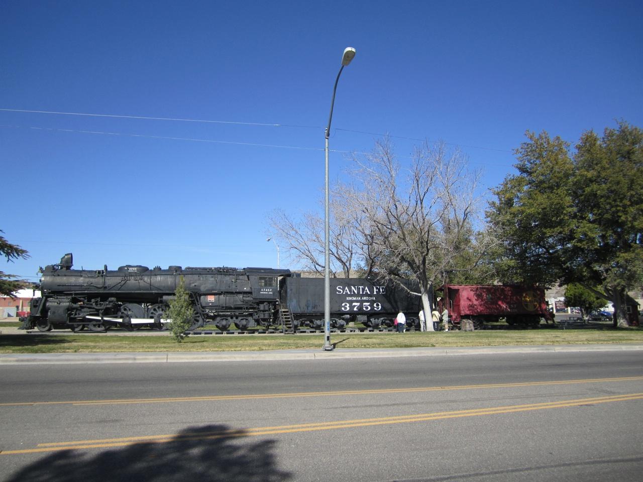 Steam Engine 3759 In Locomotive Park In Kingman, AZ