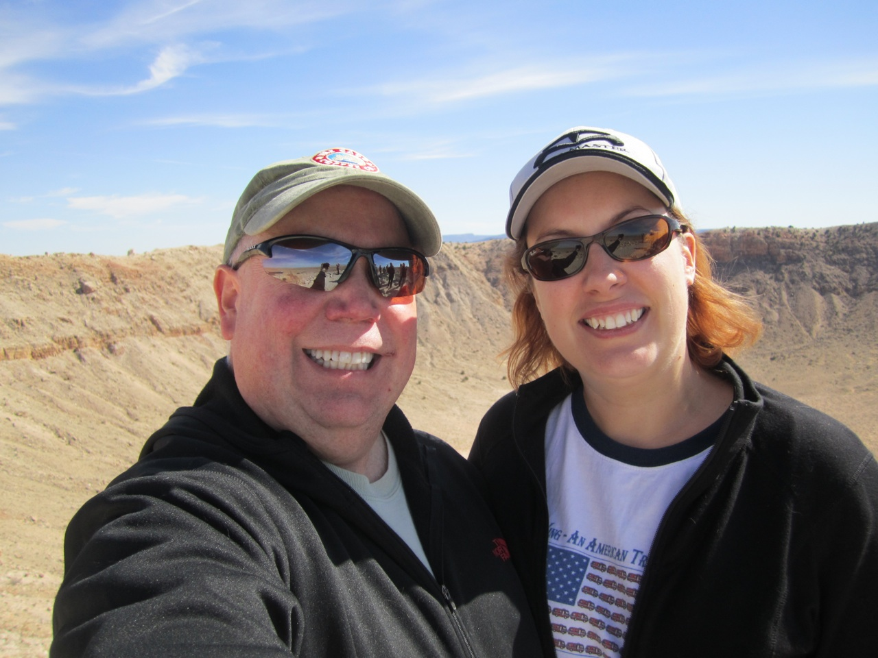 David & Brenda At The Meteor Crater Just Outside Of Winslow, AZ