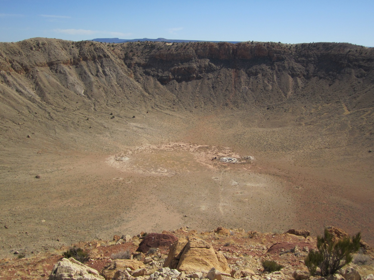 The Meteor Crater Just Outside Of Winslow, AZ