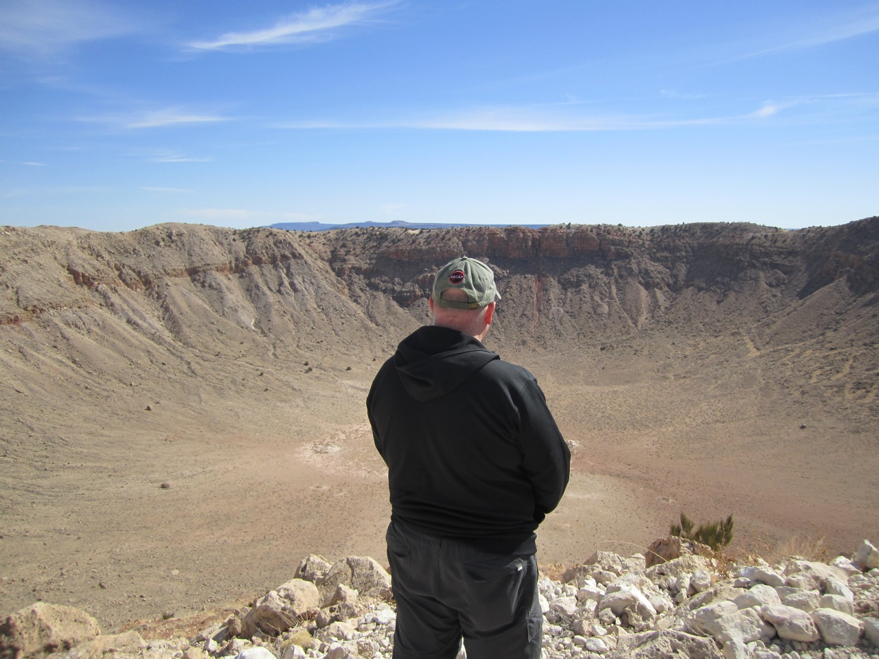 David Overlooking The Meteor Crater