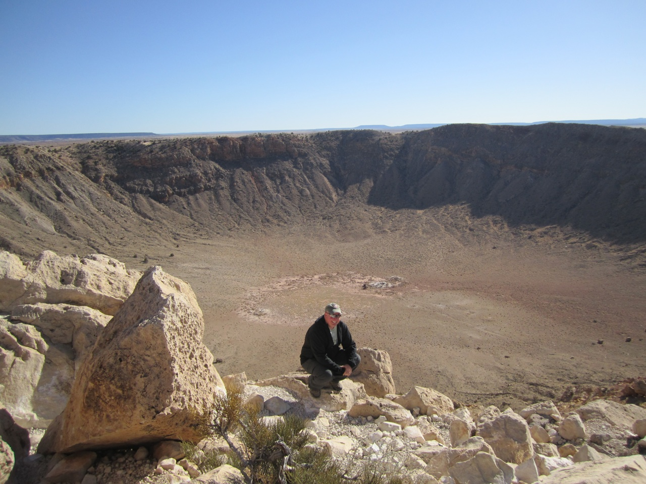 David And The Meteor Crater