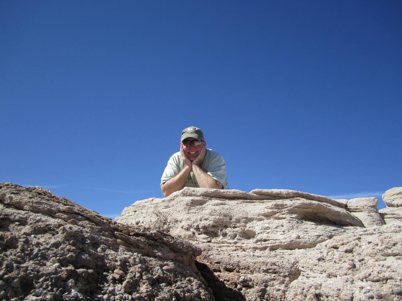 David Enjoying The View On The Blue Mesa Trail