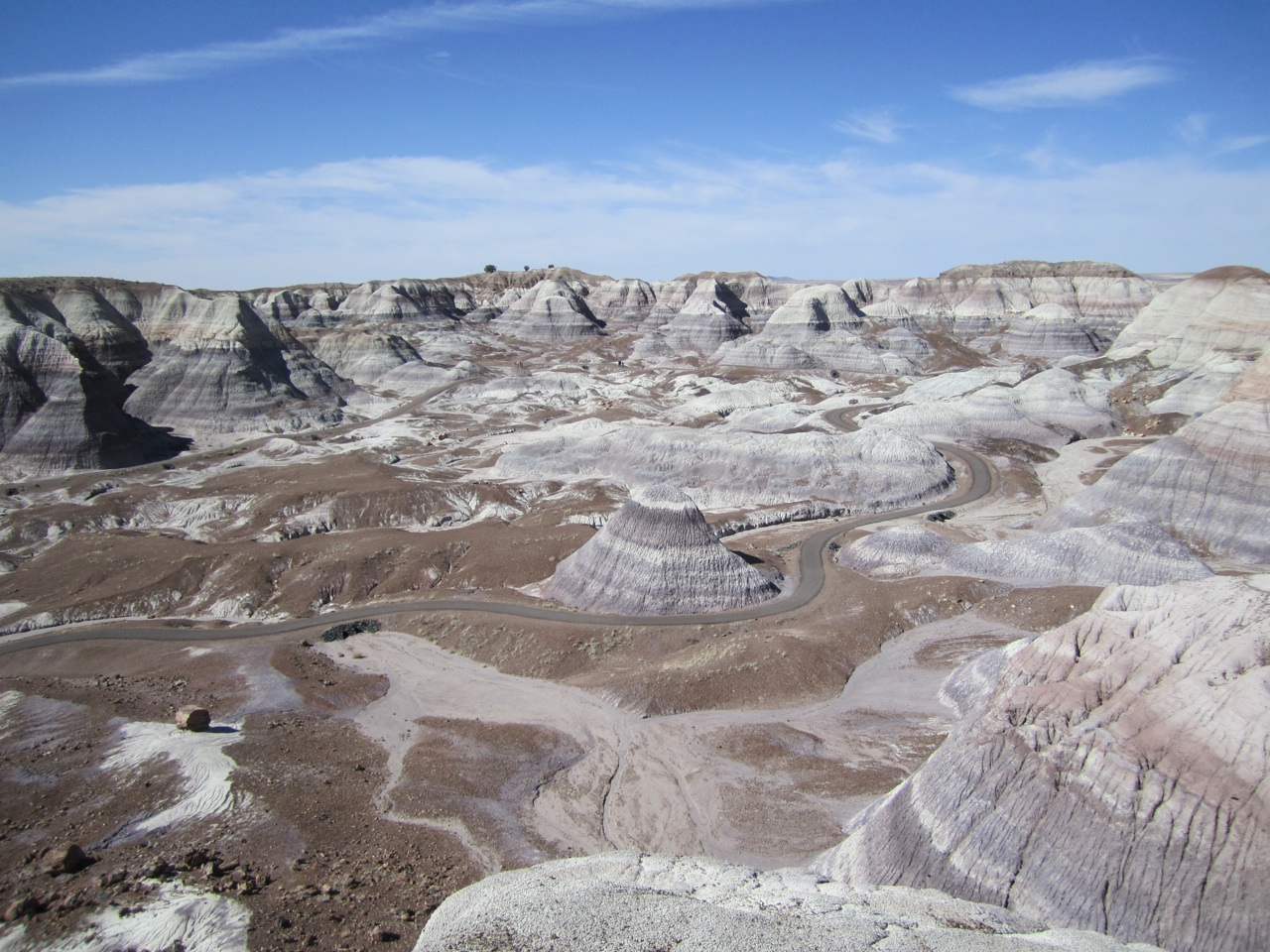 Blue Mesa Trail In The Petrified Forest