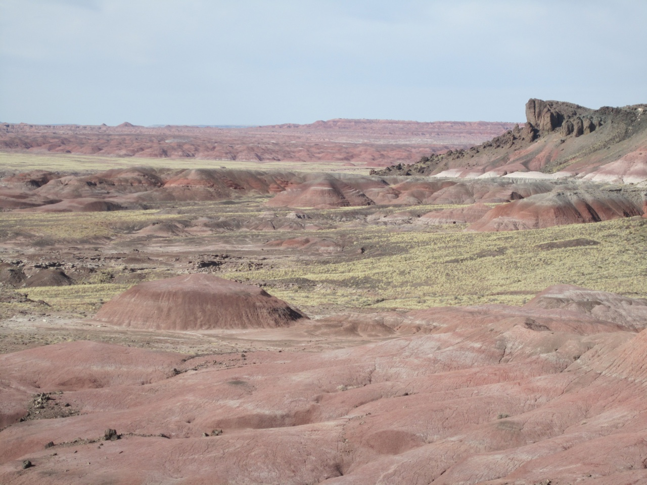 Painted Desert In The Petrified Forest National Park