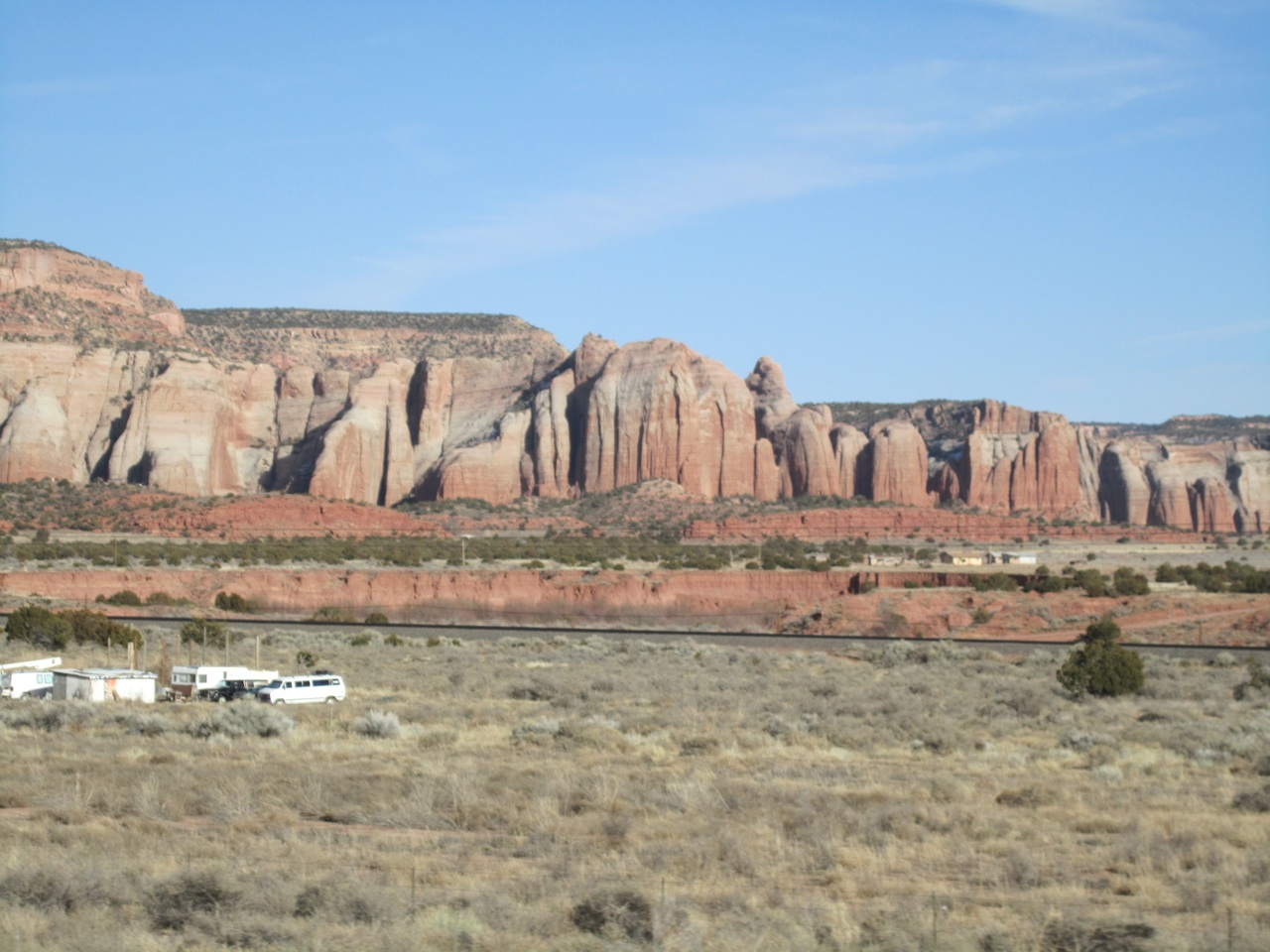 Rock Formations Along I-40 Heading To Gallup, NM