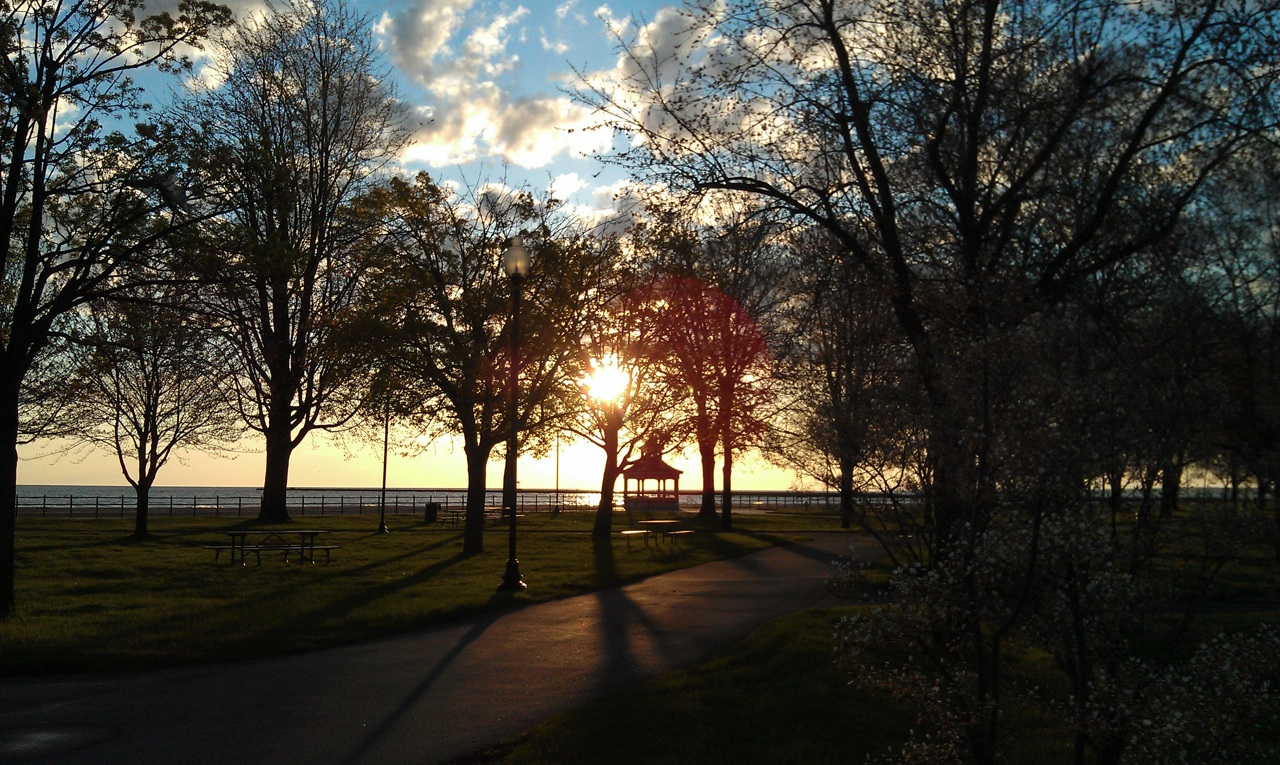 The Sun Getting Higher In The Sky While I Walk Around Ontario Beach Park