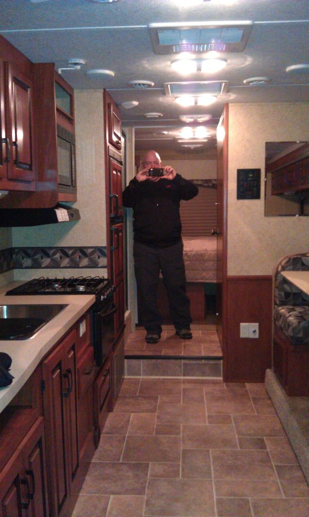 David Taking A Picture Of Me While I Take A Picture Of Him Inside Joe And Lynn's New RV.