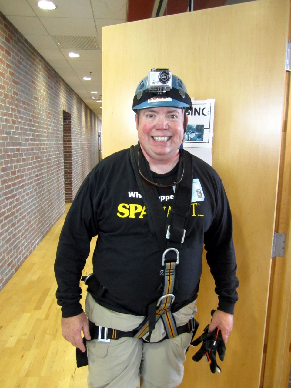 After the rappel is over. All Smiles! (Or is it relief?)