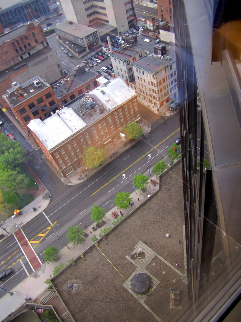 The view from 19 stories, not 21 the repel was from.