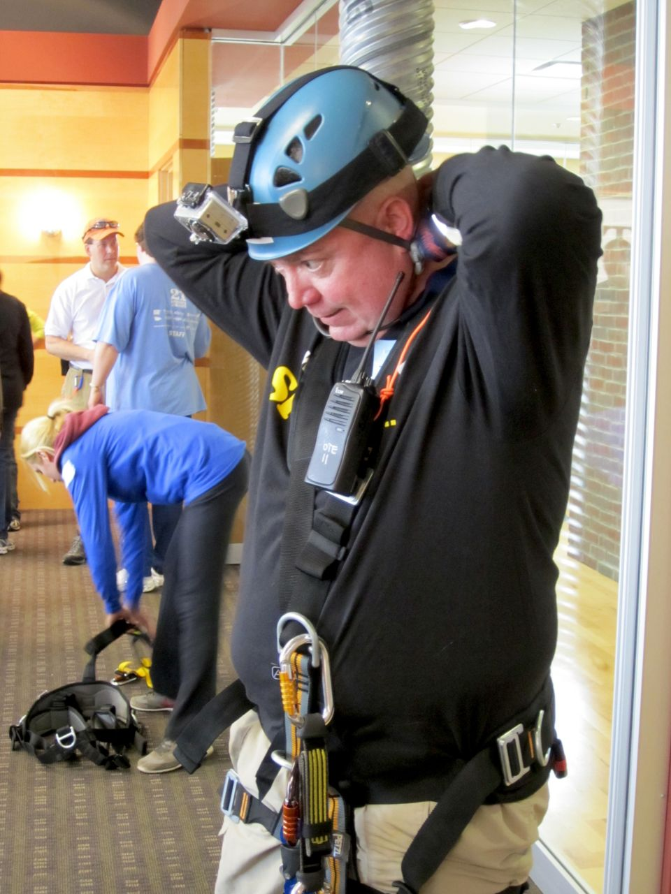 Getting ready to go over the edge.