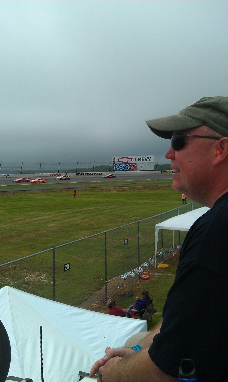 David Watching The Race