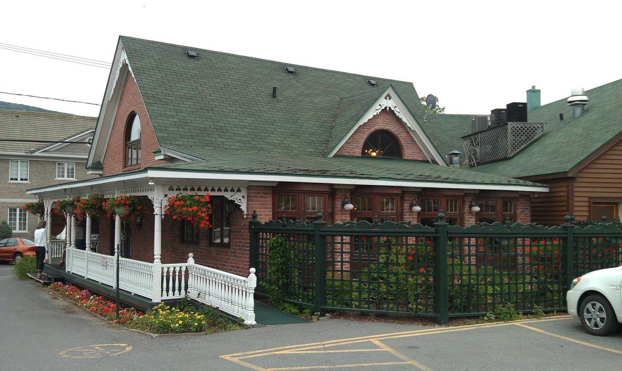 The Back Side Of La Creperie du Vieux Beloeil, Near Montreal In Beloeil
