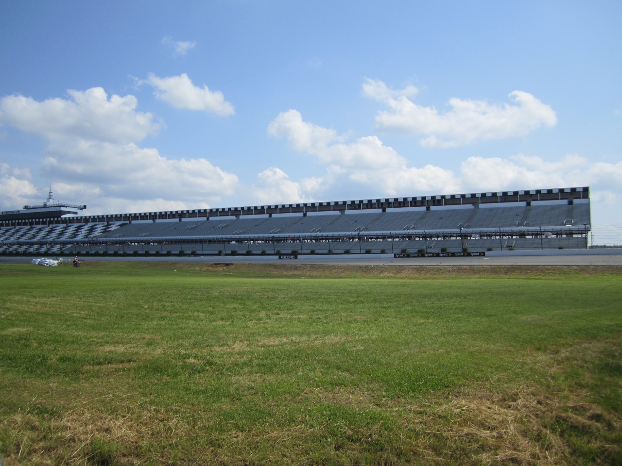 The Pocono Raceway Looking At Empty Bleachers, The Day Before The Race.