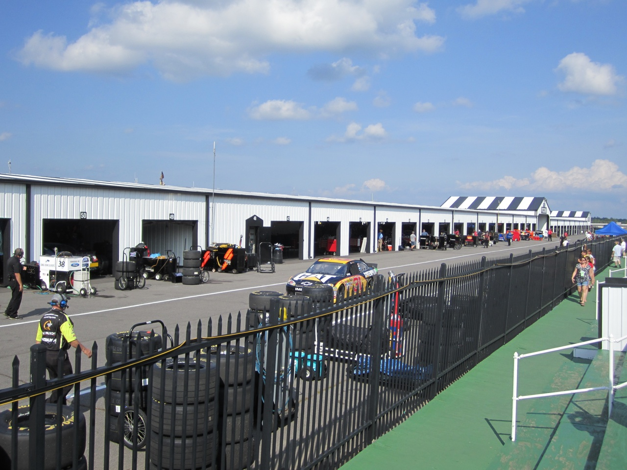 The Garages Behind Pit Row
