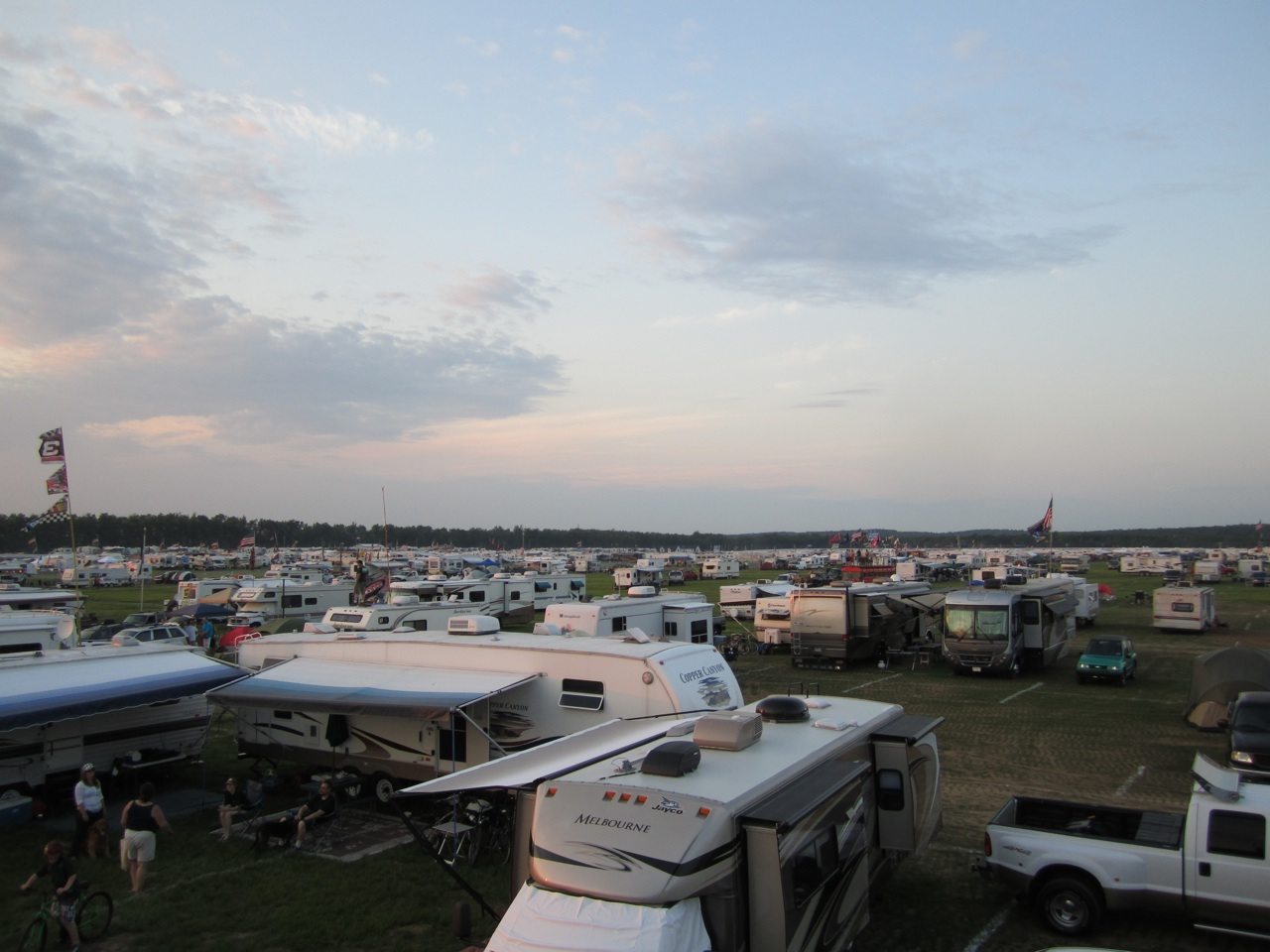 The View From Our Roof.  Rv's Everywhere!