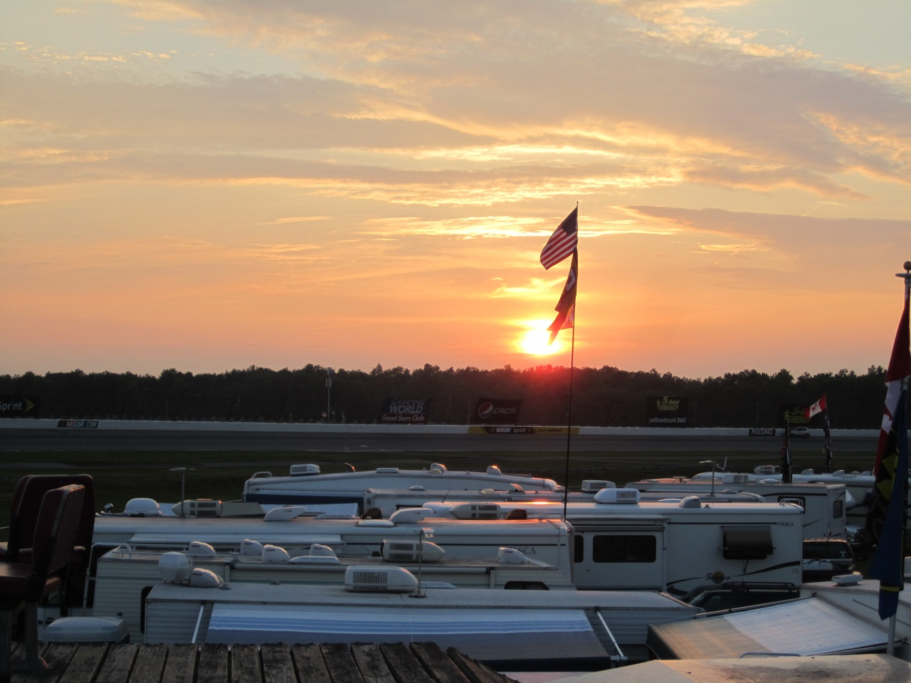 Beautiful Sun Set On Top Of Our Rig.