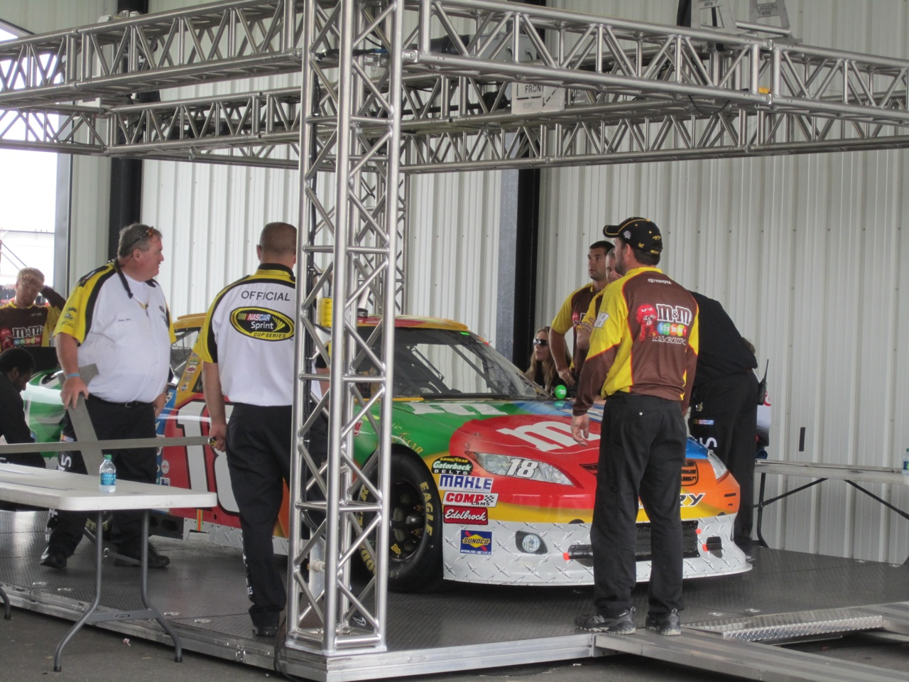 Weighing And Measuring Of The Race Cars